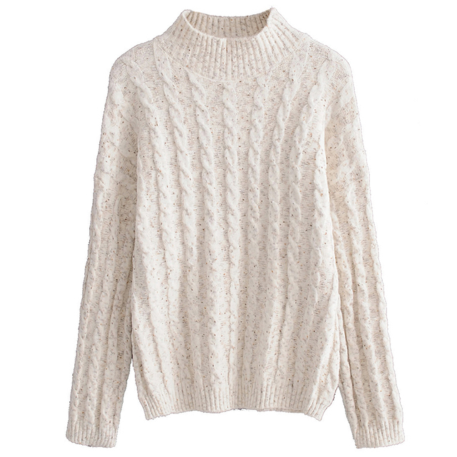 dfab68d8a5d3 Turtle Neck Sweater Autumn Pullover Women Top Jumper Female Solid Twist  Sweaters For Ladies 2018 Pullover