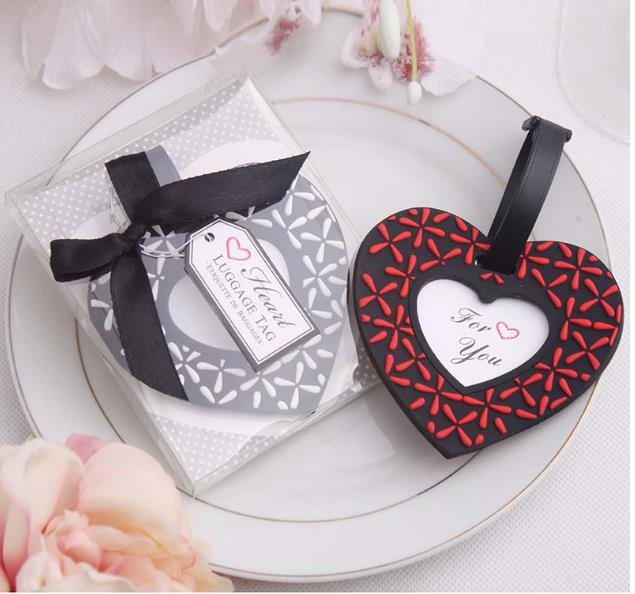 Love heart shaped Luggage Tag novelty wedding favors gifts Free shipping