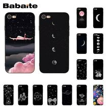 Babaite with white moon stars space astronaut   Phone Case for iphone 11 Pro 11Pro Max X XS MAX 6 6S 7 7plus 8 8Plus 5 5S XR black with white moon stars space astronaut phone case shell for iphone 6s 6plus 7 7plus 8 8plus x xs max 5 5s xr 11pro max