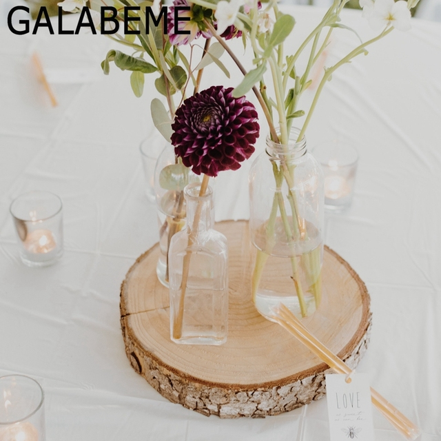 Galabeme Diy Wooden Tag Crafts Log Sheet Wedding Decoration Mariage Vintage Christmas Party Table Rustic