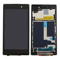 AAA Chất Lượng Đối Với Sony Xperia Z1 L39H L39 C6902 C6903 C6906 LCD Display + Touch Screen Digitizer Hội với frame