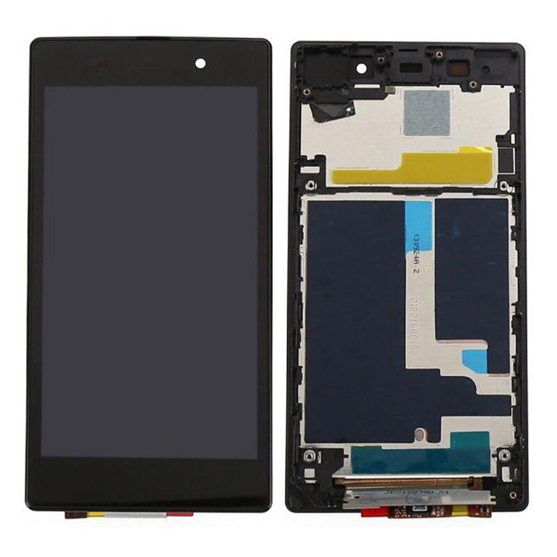 AAA Qualité Pour Sony Xperia Z1 L39H L39 C6902 C6903 C6906 LCD Display + Écran Tactile Digitizer Assemblée avec cadre