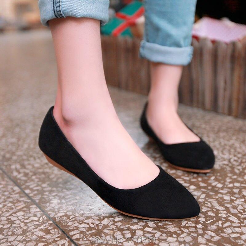 c61aecea Nueva moda de primavera y otoño de las mujeres zapatos de punta ...