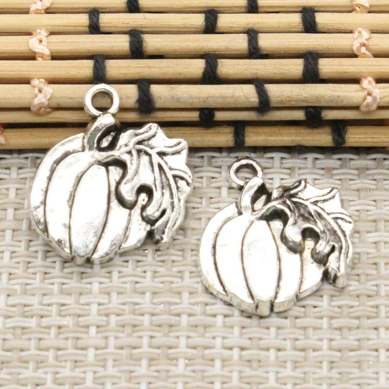 10pcs Charms pumpkin leaf thanksgiving halloween 21*18mmTibetan Silver Plated Pendants Antique Jewelry Making DIY Handmade Craft