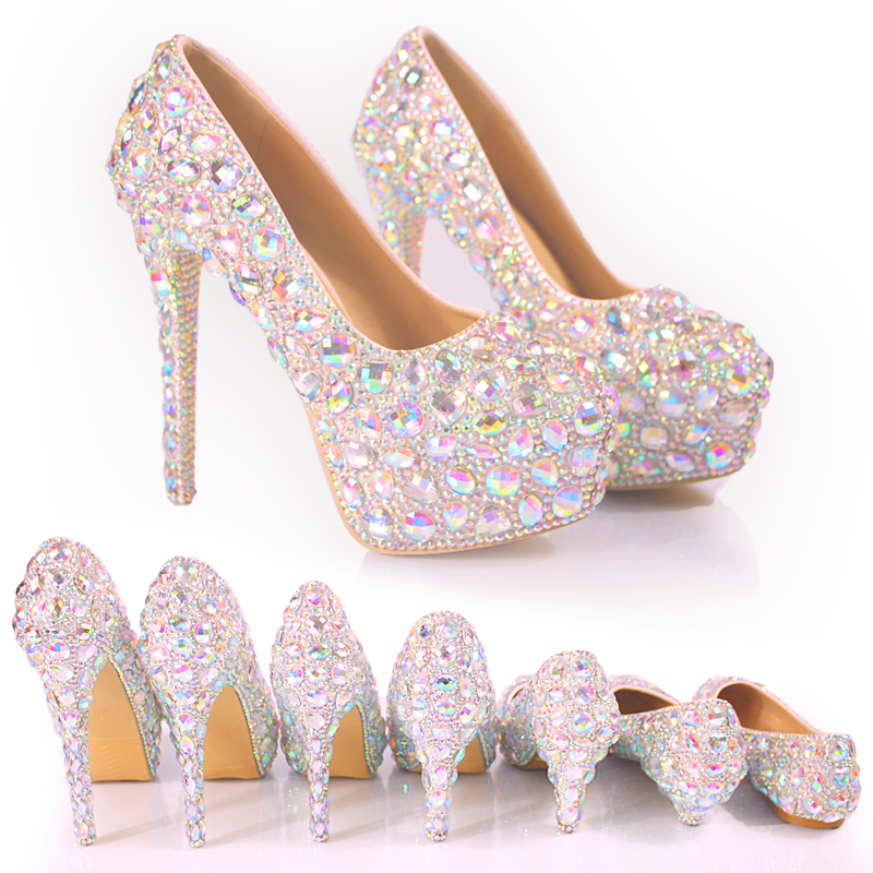 New Wedding Shoes Wedding Dress Bridal Banquet Crystal