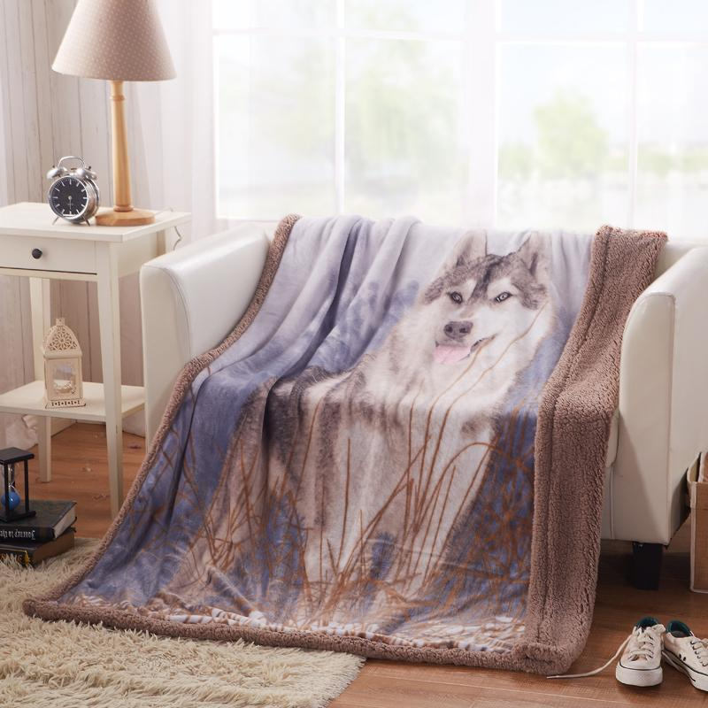 American flag flano blanket retro brown wolf flannel plaid - Plaid para sofa ...