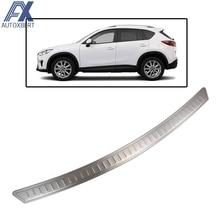 AX для Mazda Cx-5 Cx5 2012 2013 из нержавеющей стали Задний бампер протектор Палуба Шаг панель Крышка отделка багажника загрузки подоконник пластина