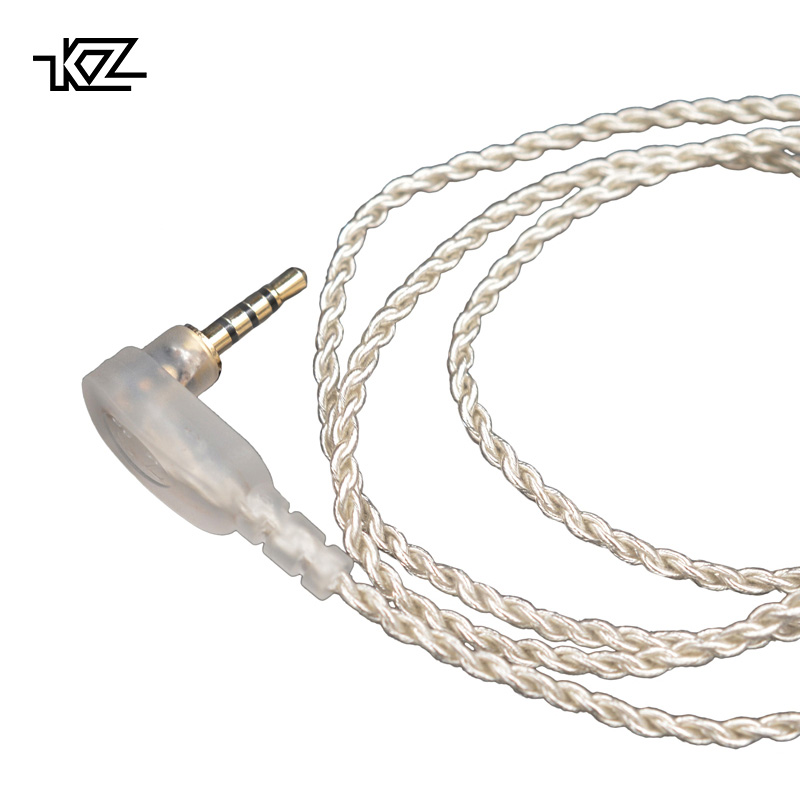 KZ ZS10 ES4 ZST 2.5mm jack balanced cable silver plated Headphone upgrade wire Earphone 0.75mm Pin DIY Detachable Audio Cord balanced wire balanced cable balanced line pure silver wire diy earphone wire