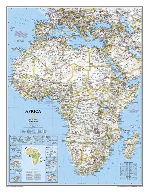 Free ship vintage AFRICA MAP HD oil painting cuadros decoracion