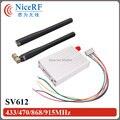 2 unids/lote Industrial SV612 433/470. 868/915 MHz transceptor de datos de radio (incluya 2 unids antena recta, 1 unids tablero puente USB)