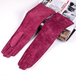 Image 3 - Mujer ante Real Party Long Evening guantes Ópera/guantes largos en diez colores