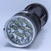 New 20000 lumens High Power 10T6 LED handlamp 10 x XM L T6 LED Flashlight Torch Lamp Light Lantern For Hunting Camping