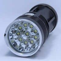 Nouveau 20000 lumens haute puissance 10T6 LED handlamp 10 x XM-L T6 lampe de poche LED lampe torche lumière lanterne pour chasse Camping