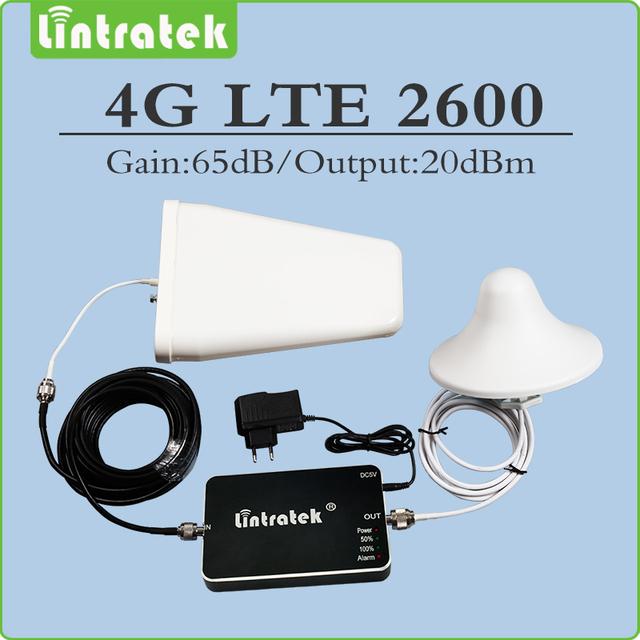 Mini Tamaño 4g lte 2600 (banda 7) amplificador de señal celular repetidor de sinal 4g lte 2600 mhz repetidor conjunto completo con Antena y Cable