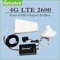 Tamanho Mini 4g lte 2600 (Band 7) reforço de sinal repetidor de sinal celular 4g lte 2600 mhz repetidor conjunto completo com Antena e Cabo