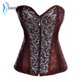 Drop Shipping Fashion Front Zipper Sexy Lingerie Corset with G-string