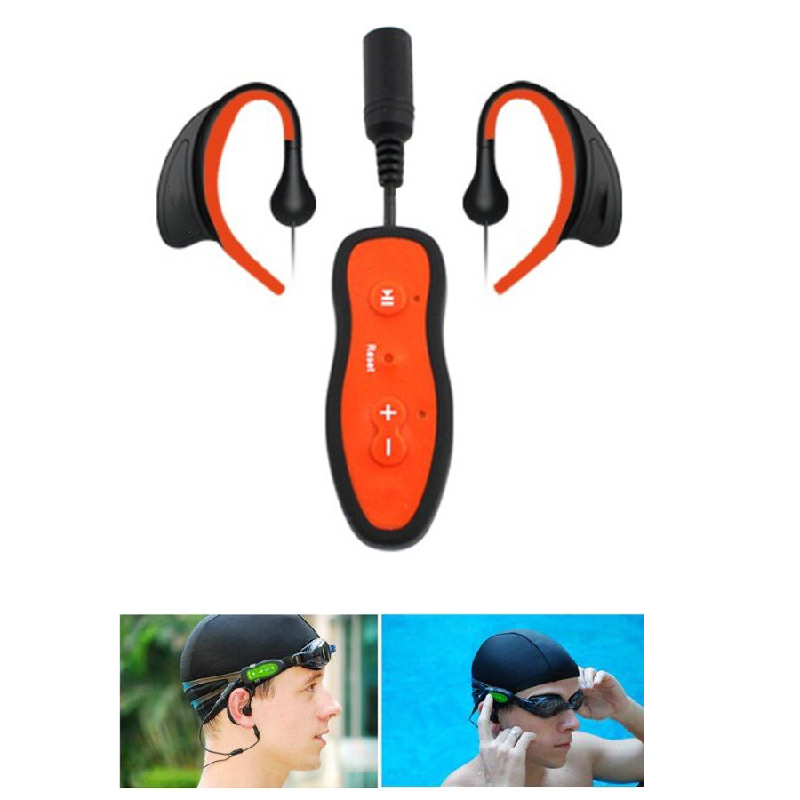 Newest 4G 8GB Diving Waterproof Swimming MP3 Player Earphone IPX8 Underwater Surf Sports Swim Mini HIFI MP3 Players Headset t 04 swimming diving waterproof mp3 player w fm earphone black orange 8gb