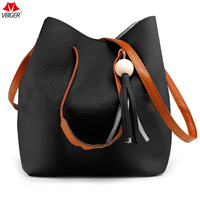Vbiger Women Single Shoulder Bag High Quality Set Messenger Bag Clutch Bag Set Stylish Handbags With