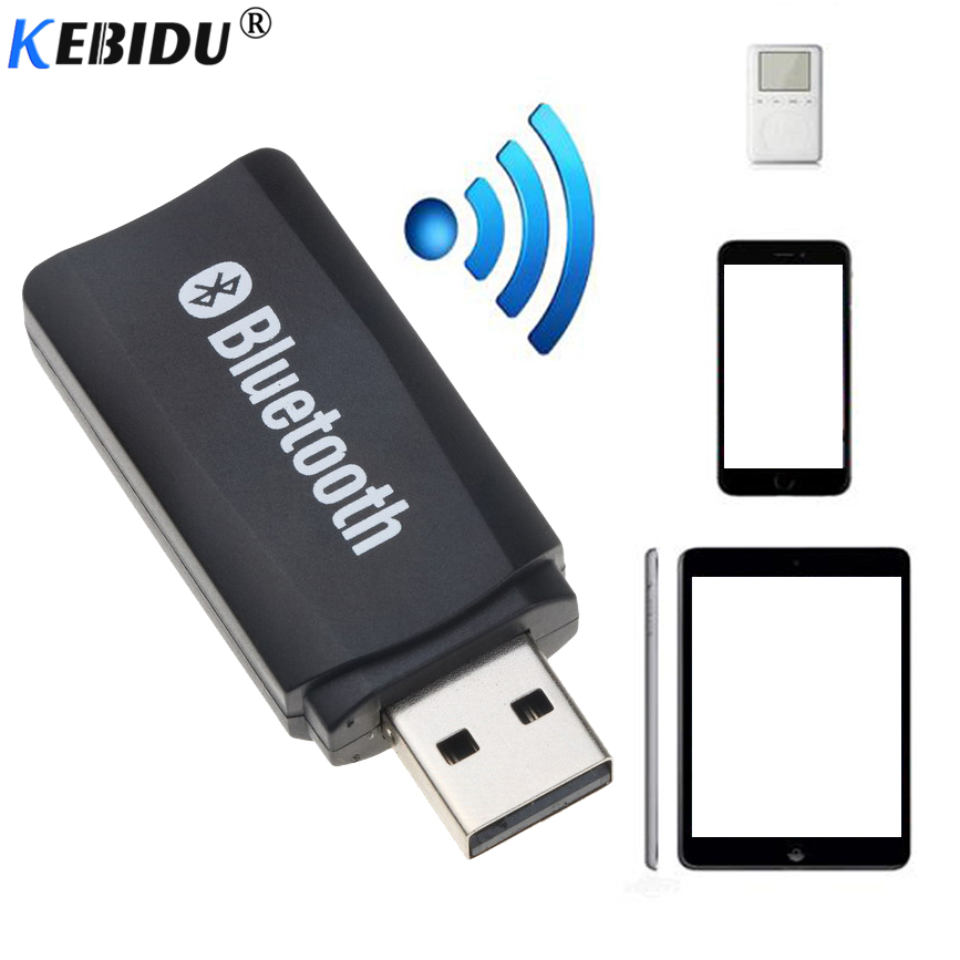 Kebidu Wireless Bluetooth USB Adapter Receiver Car Kit