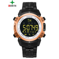 NORTH Men Smart Watch Chronograph Multi Functions Sports Digital Watches 50M waterproof stainless steel Wristwatches Relogios