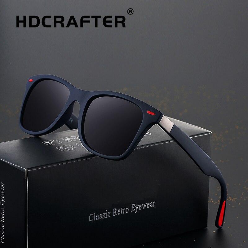 Lunettes de soleil classiques hommes polarisées marque Designer lunettes de soleil Protection UV lunettes de conduite Vintage Rivet mâle lunettes de soleil Cool