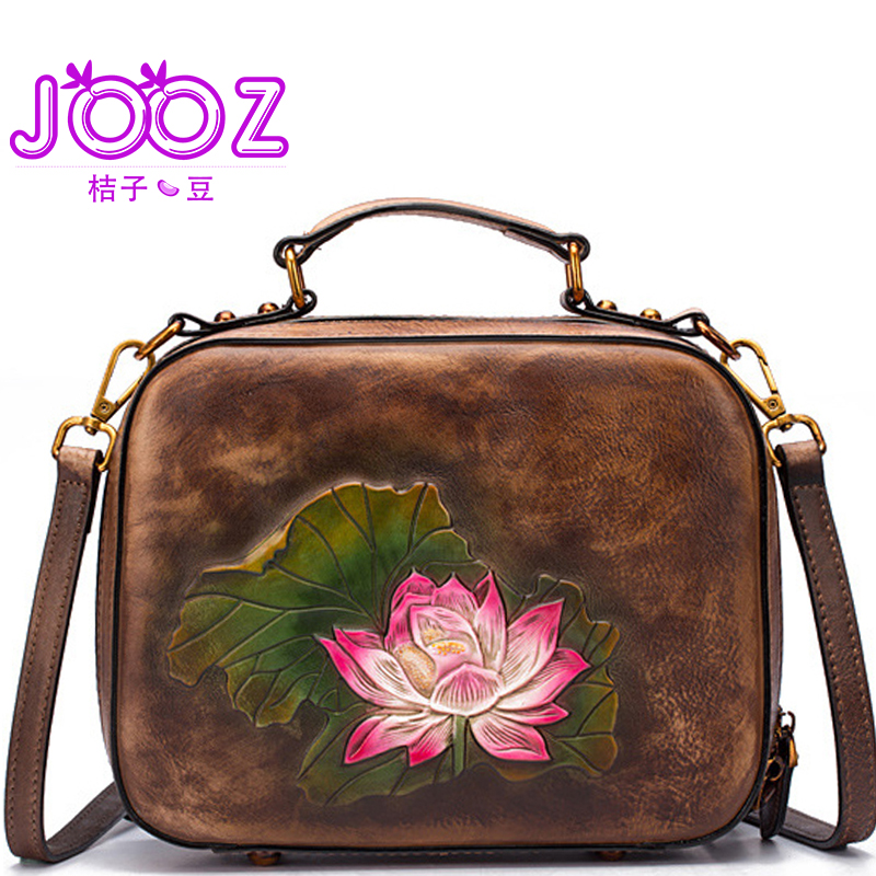 Jooz Women Bags 100% Genuine Leather Bags 2018 fashion Women Handbags High Quality Cow Leather Ladies Shoulder Bags Sac A Main women genuine leather messenger bags sac a main shoulder bags women crossbody bag ladies high quality cow leather handbags