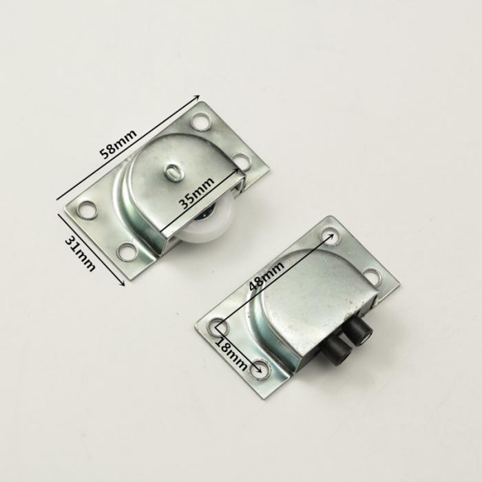 1 пара колесо для раздвижной двери Нержавеющая сталь мебельные колесики для шкафчиков бесшумный дверной ролик LO88