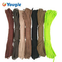 YOUGLE Paracord 550 Parachute Cord Lanyard Rope Mil Spec Type III 7 Strand 100FT 31m Climbing Camping survival equipment 11-17