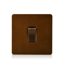 Luxury Light Wall Switch Panel Electrical Push Button 1 gang 10A 110-250V Lamp Switches Satin Metal Stainless steel Panel 8055 button mask keysters panel operation panel