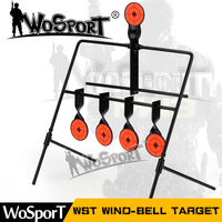 WOSPORT 5 Plate Reset Shooting Target Tactical Metal Steel Slingshot BB Gun Airsoft Paintball Archery Hunting