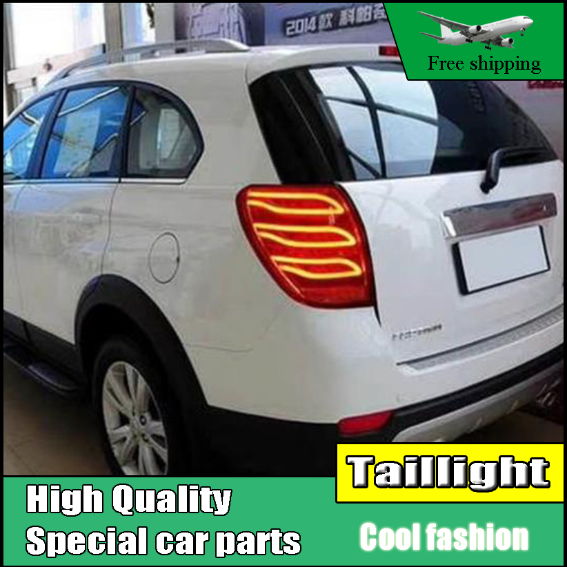 Car Styling For Chevrolet CAPTIVA 2008-2016 LED Moving Turn Signal TAIL Lights Back Light LED Rear Lamp Driving+Brake+Reversing car styling tail lights for toyota highlander 2015 led tail lamp rear trunk lamp cover drl signal brake reverse