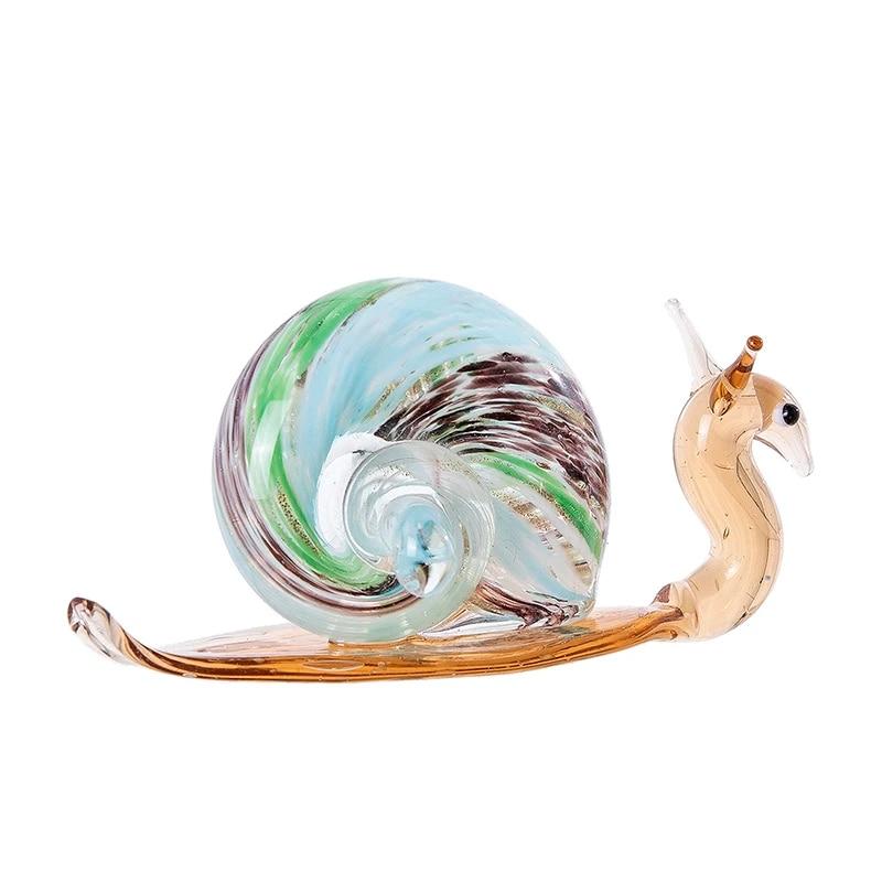 Spotted Slug glass sculpture GLASS SLUG lampwork Glass Animals Handcrafted Snail glass sculpture