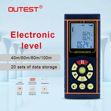 OUTEST Digital Laser Distance Meter 40M 60M 80M 100M Laser rangefinder metre Single continuous Area Volume with Electronic level