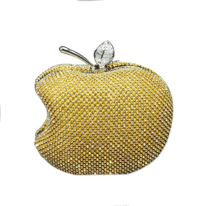 Homeda Women Evening Bag High-End Apple Bags Pure Hand Craft Water Drill Mosaic Women Bags Ladies Clutch k-501