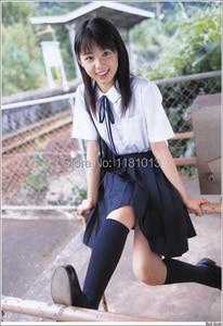 Image 5 - Japanese high school Schoolgirl Square collar short sleeve shirt Opacity solid white uniform shirts