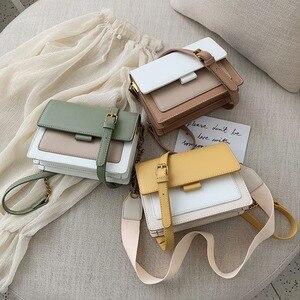 Image 5 - ミニ革のクロスボディバッグ女性 2020 グリーンチェーンショルダーバッグシンプルなバッグ女性旅行財布とハンドバッグクロスボディバッグ