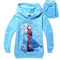 Тм-p3, 5 шт./лот, дети девушки толстовки, с длинным рукавом мультфильм пуловер кофты, принцесса