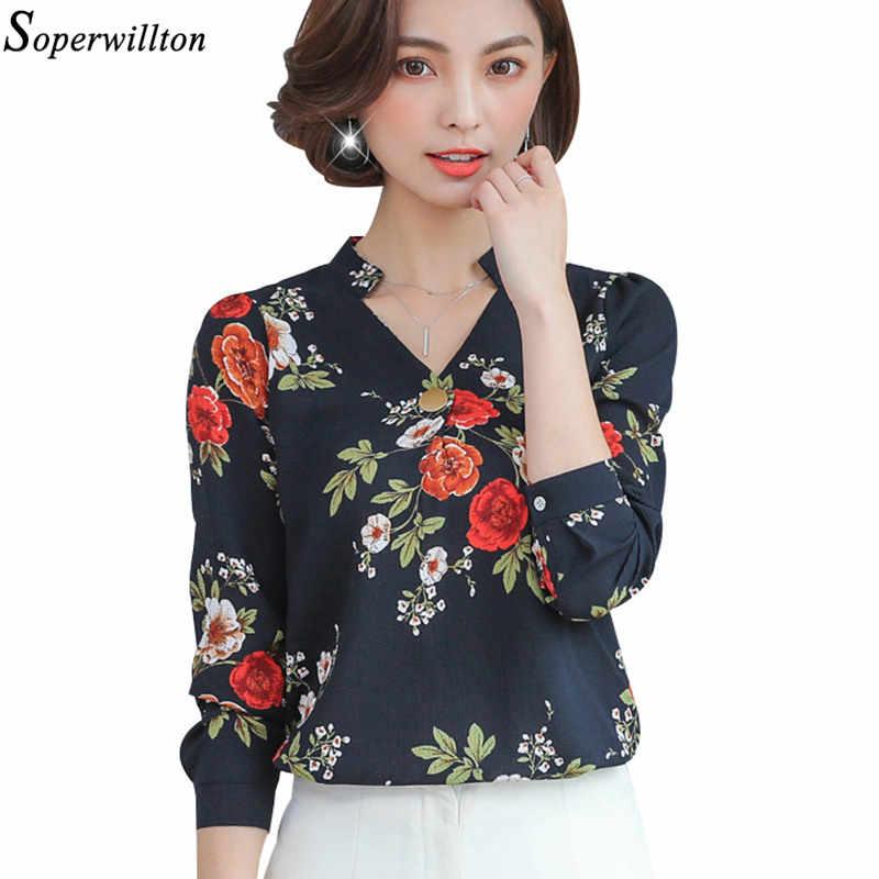 377431b2 ... Blusa de las señoras de oficina camisa elegante de gasa de Mujer Tops y Blusas  otoño ...