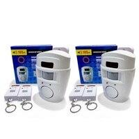 Chuangkesafe Wireless PIR Motion Sensor Alarm 2 Remote Controls Local Alarm Burglar 105db Siren