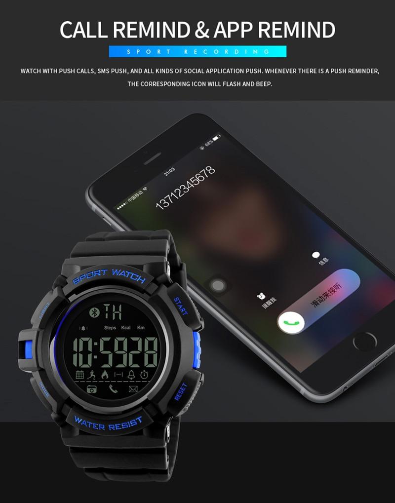 Men's Watches Strong-Willed Skmei Compass Men Watches 5atm Waterproof Digital Outdoor Sports Watch Men Backlight Countdown Wrist Watches Relogio Masculino Yet Not Vulgar Watches
