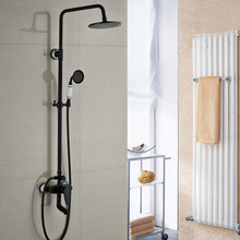 Single Handle 3 Ways 8 Rainfall Shower Faucet Mixer Taps Wall Mount Bathroom Tub Shower Faucet