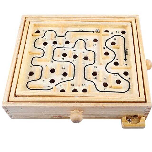 Novo jogo de Tabuleiro Jogo de Labirinto Bola Labirinto De Madeira Puzzle Brinquedos Artesanais 27.5*23*6 centímetros Crianças Brinquedos Educativos brinquedo antistress