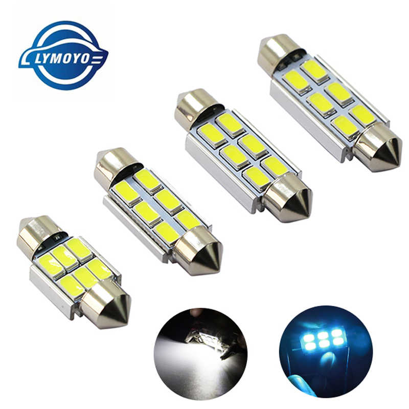 1pcs Festoon CANBUS 31mm 36mm 39mm 41mm C5W led ERROR FREE 5630 5730 6 LED smd interior reading white ice blue bulbs dome lamps