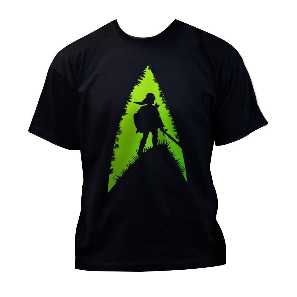 Hot Game The Legend of Zelda T Shirt Green Men Cotton O-neck Summer T-shirt Tee