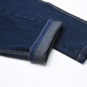 Image 5 - Kış sonbahar yüksek bel kalın pamuklu kumaş kot erkekler rahat klasik düz kot erkek kot çok cep pantolon tulum