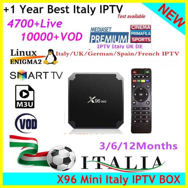 US $15 12 10% OFF|Aliexpress com : Buy X96 MINI Iptv Smarters Pro Italy  IPTV with 3/6/12Months IPTV Subscription Support 660+ Dazn Italia Mediaset