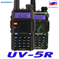 Baofeng uv-5r 128ch transmisor-receptor walkie talkie de dos vías de radio baofeng uv5r 5 w vhf uhf 136-174 mhz y 400-520 mhz dual band