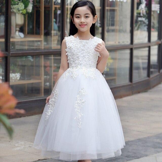 Vestidos blancos de tul para ninas