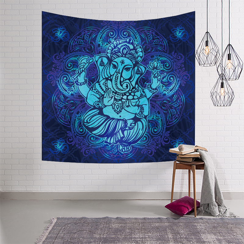 Cheap Sale Custom Soft Fleece Throw Blanket Chakra Decor Holistic Mandala Water Lily Pattern With Light Soft Color Stylized Zen Life Boho Power Source