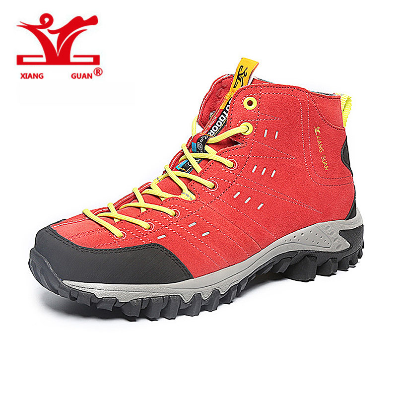 XIANGGUAN New Woman Hiking Shoes Mesh Breathable Trekking Boots red Zapatillas Sports Climbing Shoe Outdoor Walking Sneakers hot new 2016 fashion high heeled women casual shoes breathable air mesh outdoor walking sport woman shoes zapatillas mujer 35 40